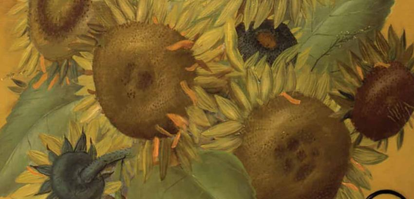 "Fernando Botero's ""Girasoles After van Gogh"" (1970)."