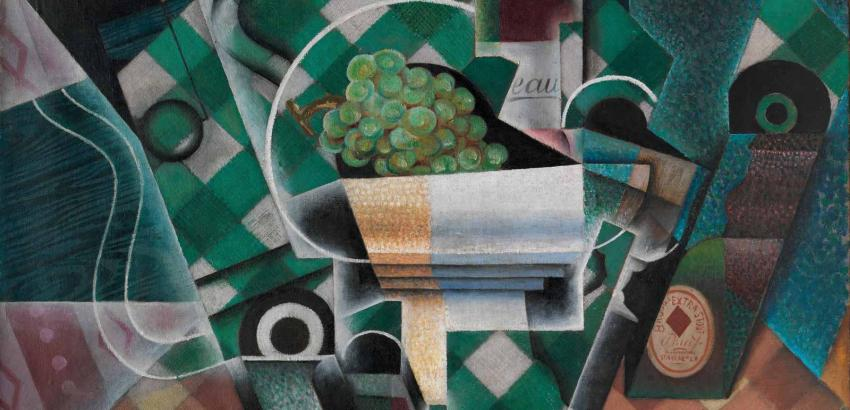 Juan Gris, Nature morte à la nappe à carreaux (Still Life with Checkered Tablecloth), 1915