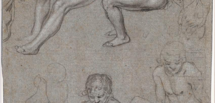 Jacques de Gheyn II (Dutch, 1565–1629), Studies of a Naked Seated Boy, c. 1603.