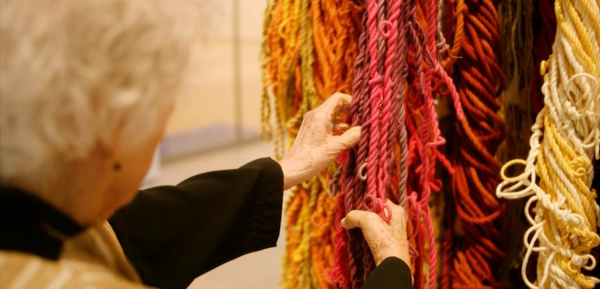 Still from Artist Story film with Sheila Hicks.